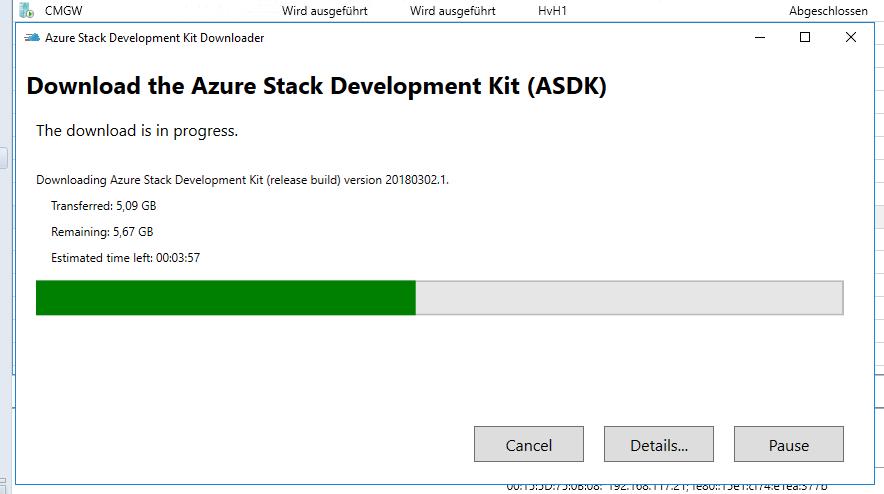 #ASDK Azure Stack DevKit 1802 verfügbar