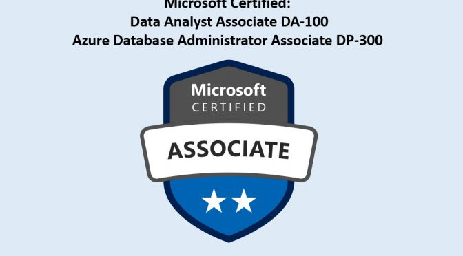 New Azure Database and DataAnalyst Exams Available DA-100 & DP-300