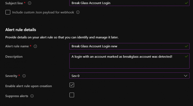 Howto Setup and Monitor the Break Glass Account in your Tenant
