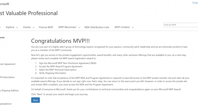 Microsoft MVP for Azure 2020-2021